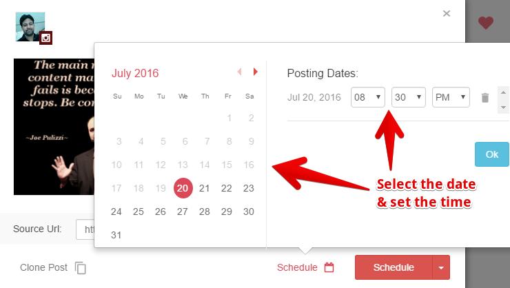 ViralTag Instagram Scheduling